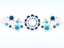 Bakgrund för teknologi för vektordesignnätverk Royaltyfri Fotografi
