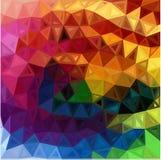 Bakgrund för trianglar för regnbågefärger abstrakt Arkivbild