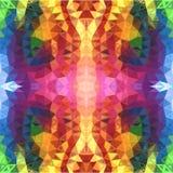 Bakgrund för trianglar för regnbågefärger abstrakt Royaltyfria Bilder