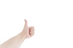 bakgrund göra en gest händer isolerade ok white bakgrund isolerad white Fotografering för Bildbyråer