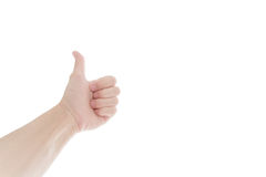 bakgrund göra en gest händer isolerade ok white bakgrund isolerad white Royaltyfri Bild