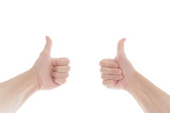 bakgrund göra en gest händer isolerade ok white bakgrund isolerad white Royaltyfria Foton