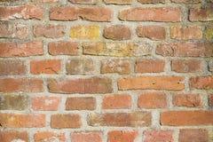 Bakgrund gammal murverktegelstenvägg Arkivfoto