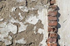 Bakgrund gammal murverktegelstenvägg Royaltyfri Bild