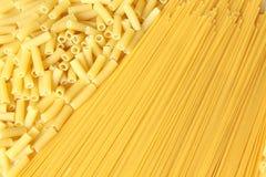 bakgrund gjorde pasta Arkivbilder