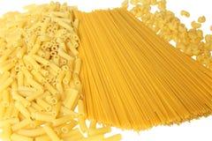 bakgrund gjorde pasta Royaltyfri Bild