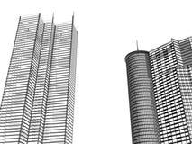 bakgrund houses moderne Royaltyfria Foton