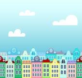 bakgrund houses seamless Arkivfoton