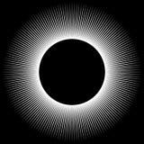 Bakgrund i form av en vit sfär av strålar royaltyfri illustrationer