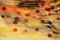 Bakgrund i tappning färgar och former, abstrakt begreppbild Arkivbilder