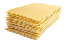bakgrund isolerad lasagnapastawhite Royaltyfria Bilder