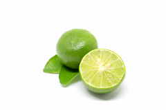 bakgrund isolerad limefruktwhite arkivbilder