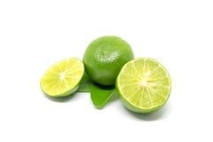 bakgrund isolerad limefruktwhite arkivfoton
