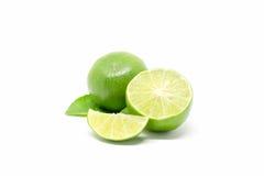 bakgrund isolerad limefruktwhite royaltyfri fotografi