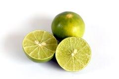 bakgrund isolerad limefruktwhite royaltyfri bild