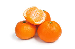 bakgrund isolerad mandarinwhite Arkivbilder