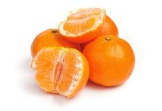 bakgrund isolerad mandarinwhite Royaltyfri Bild