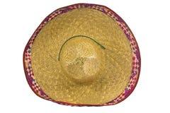 bakgrund isolerad mexikansk sombrerowhite Royaltyfria Bilder