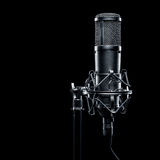 bakgrund isolerad mikrofonstudiowhite Royaltyfri Foto