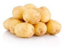 bakgrund isolerad ny potatiswhite arkivbild