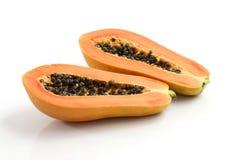 bakgrund isolerad papayawhite Royaltyfria Bilder