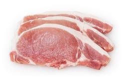 bakgrund isolerad rå white för meatpork Royaltyfria Bilder