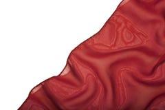 bakgrund isolerad röd silk white Arkivfoton