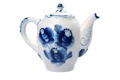 bakgrund isolerad teapottappningwhite Fotografering för Bildbyråer