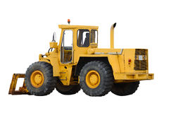 bakgrund isolerad traktorwhite Arkivbild
