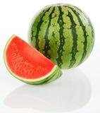 bakgrund isolerad vattenmelonwhite Royaltyfri Fotografi
