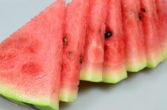 bakgrund isolerad vattenmelonwhite Royaltyfria Bilder