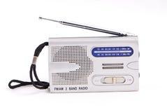 bakgrund isolerad white för radioset Arkivfoton