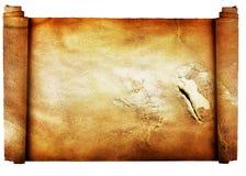 bakgrund isolerade tappning w för parchmentrulle Royaltyfri Foto