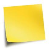 bakgrund isolerade vit yellow för memosticken Royaltyfri Bild