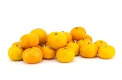 bakgrund isolerade vita apelsiner Royaltyfri Foto