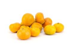 bakgrund isolerade vita apelsiner Arkivbilder