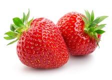 bakgrund isolerade white för jordgubbar två arkivfoton