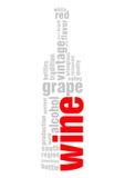 bakgrund isolerat ord för vit wine Royaltyfri Foto