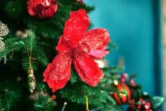 Bakgrund jul min version för portföljtreevektor Begreppet av jul och den nya jarösten Arkivbilder