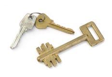 bakgrund keys metallwhite Arkivfoton