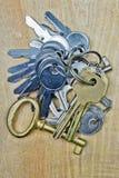 bakgrund keys trä Fotografering för Bildbyråer