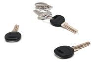 bakgrund keys white Royaltyfri Foto