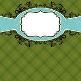 bakgrund kontrollerade den gröna etiketten Royaltyfri Foto