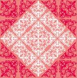 bakgrund krullat rosa rött symmetriskt royaltyfri illustrationer
