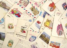 bakgrund letters gammalt Royaltyfria Bilder