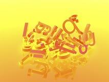 bakgrund letters orangen Royaltyfri Bild