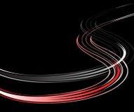 bakgrund lines den wavy vektorn Arkivfoton