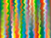 bakgrund lines multicolor wavy Royaltyfri Fotografi