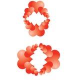 Bakgrund logo royaltyfri foto