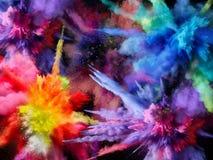 Bakgrund målarfärg brigham Explosion med målarfärg royaltyfria foton